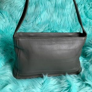Gray coach leather bag
